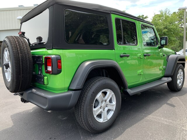 New 2019 Jeep Wrangler Unlimited Sport 4x4, Tow, Black Side Steps