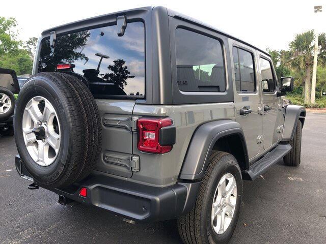 New 2019 Jeep Wrangler Unlimited Sport 4x4, Trailer Tow, Alpine Audio, Hard Top