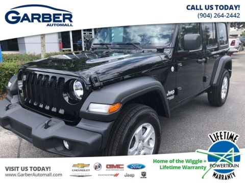 2019 Jeep Wrangler Unlimited Sport 4x4, Tech Package, Black Hard Top 4WD