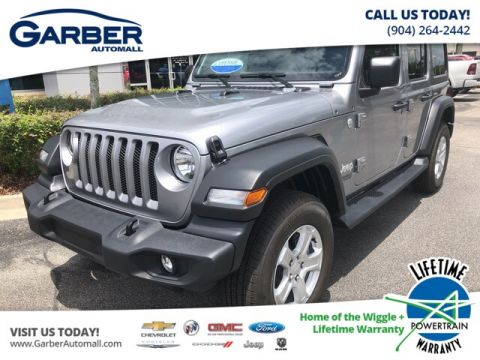 2019 Jeep Wrangler Unlimited Sport 4x4, Black Hard Top, Tech Package 4WD