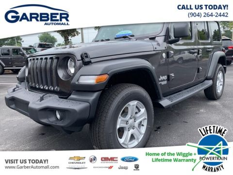 2019 Jeep Wrangler Unlimited Sport 4x4 Black Hard Top, Tech Package 4WD