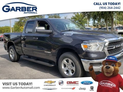New 2019 RAM 1500 Tradesman Quad Cab 4x4 in Loaner Status