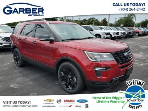 New 2019 Ford Explorer Sport, Moonroof, Leather, EcoBoost With Navigation & 4WD