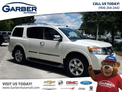 Pre-Owned 2014 Nissan Armada Platinum w/Sunroof Rear DVD